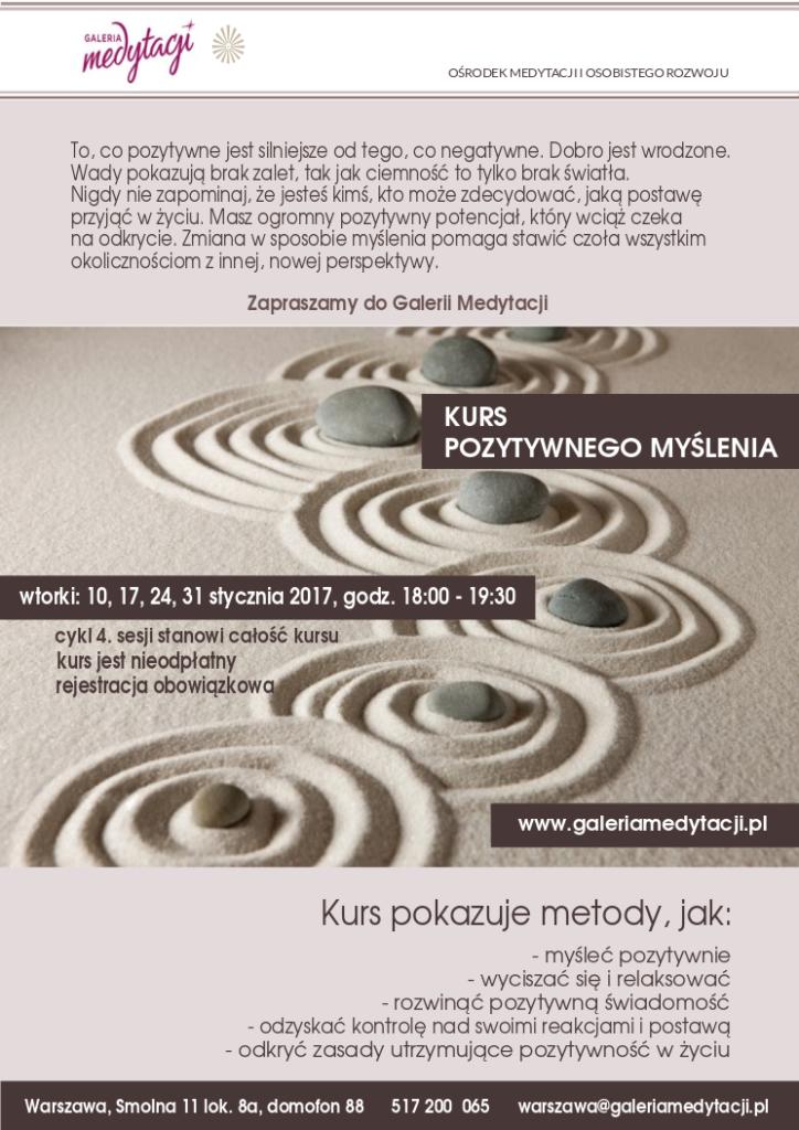 Kurs pozytywnego myślenia. Sesja 1 @ Galeria Medytacji w Warszawie