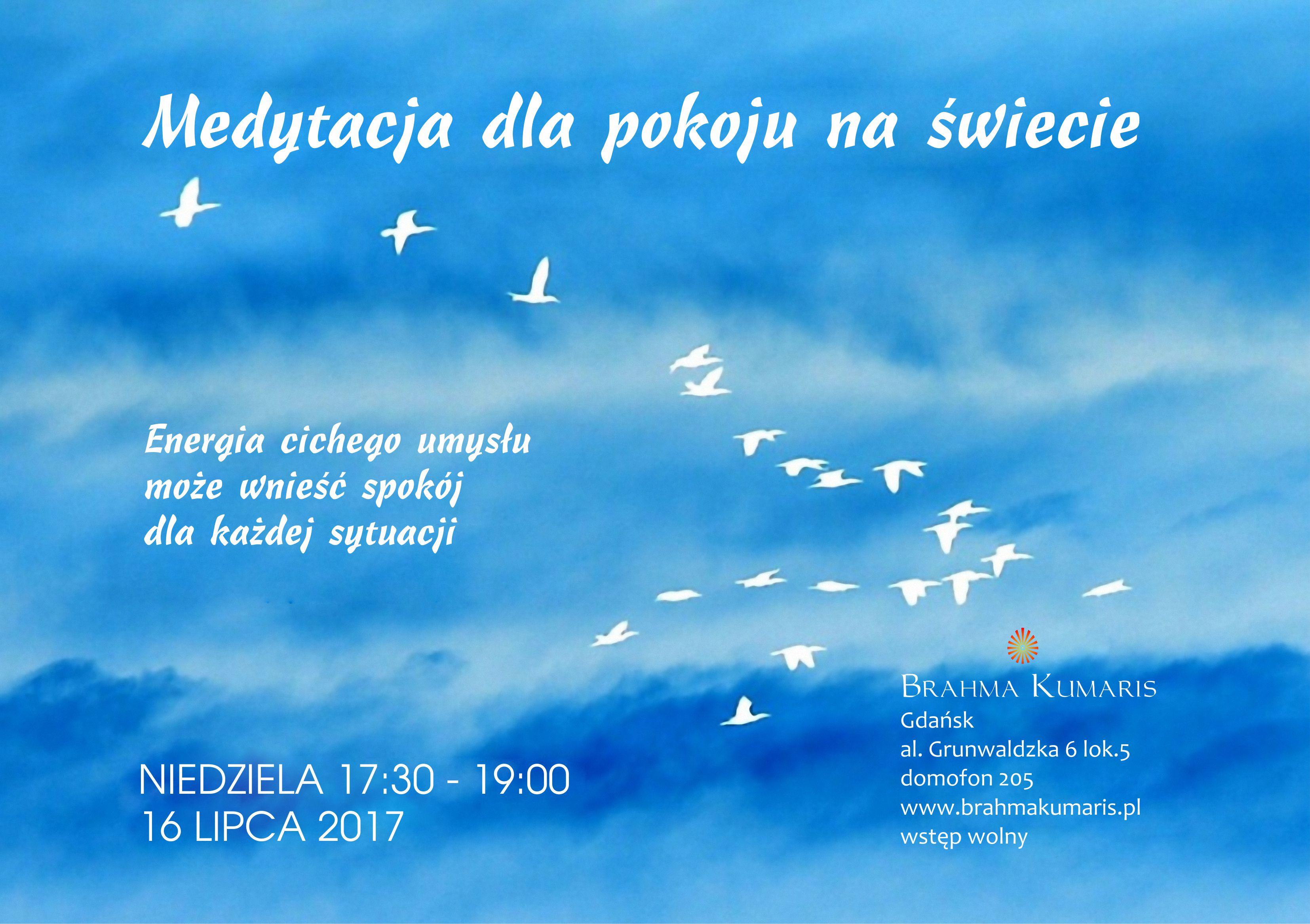 Medytacja dla pokoju na świecie w Gdańsku @ Ośrodek Brahma Kumaris w Gdańsku