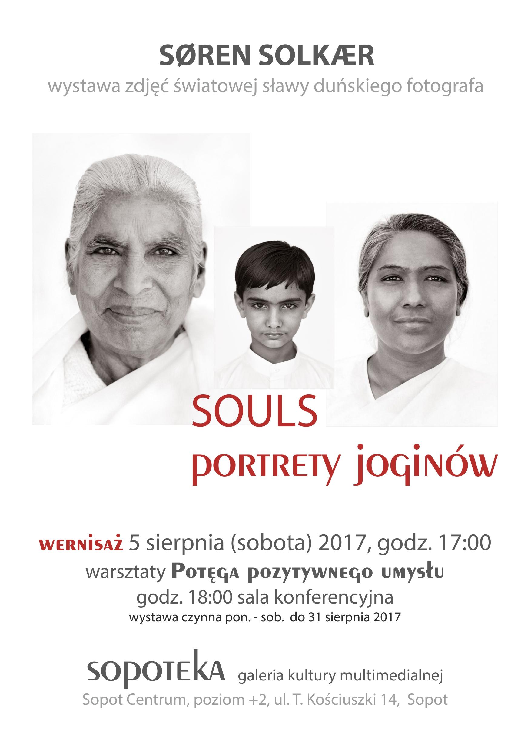 Wystawa zdjęć Sørena Solkæra SOULS, Portrety joginów - Wernisaż @ Sopoteka, Galeria Kultury Multimedialnej, poziom +2