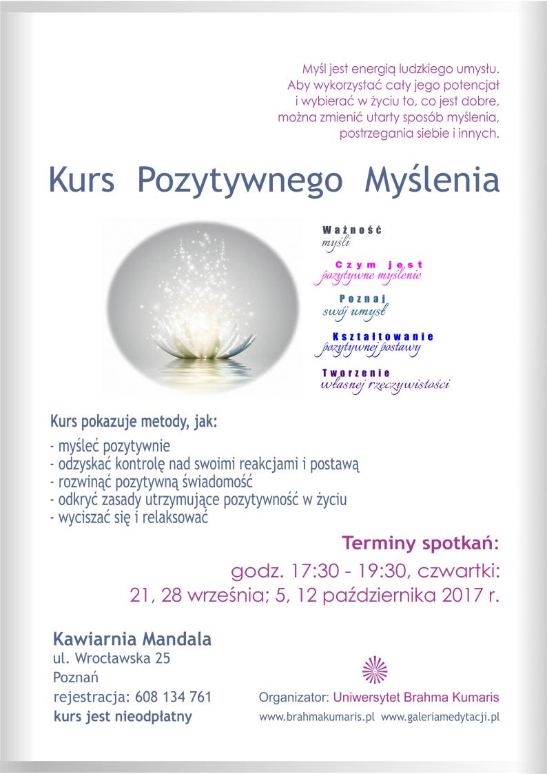 Kurs pozytywnego myślenia w Poznaniu. Sesja 3 @ Kawiarnia Mandala