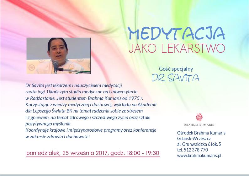 Medytacja jako lekarstwo @ Ośrodek Brahma Kumaris w Gdańsku