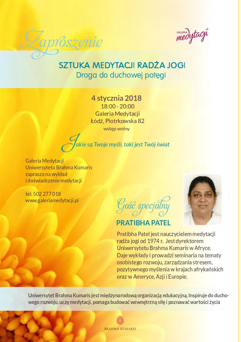 Sztuka medytacji radza jogi. Droga do duchowej potegi. Spotkanie w Łodzi @ Galeria Medytacji w Łodzi