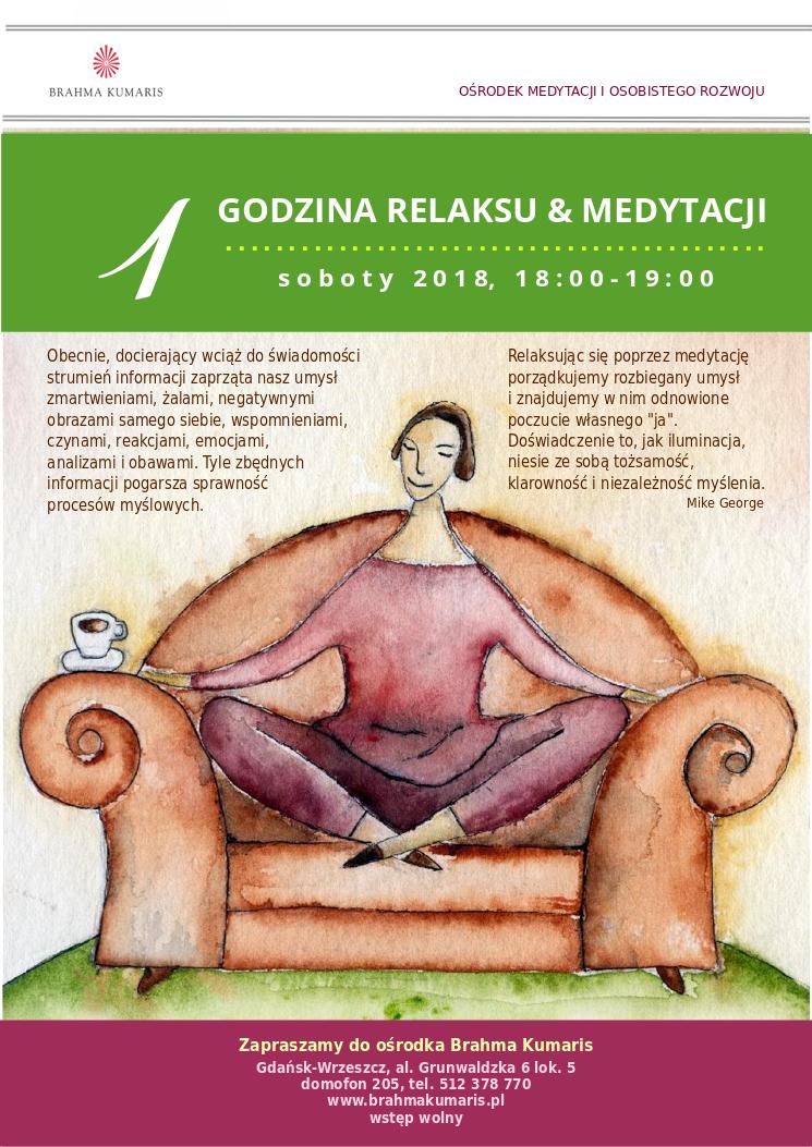 Jedna godzina relaksu & medytacji w Gdańsku @ Ośrodek Brahma Kumaris w Gdańsku