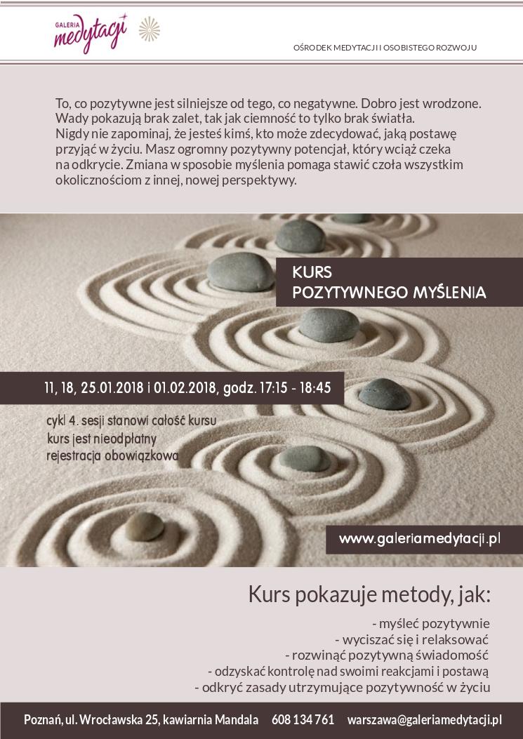 Kurs pozytywnego myślenia w Poznaniu. Sesja 1 @ Kawiarnia Mandala w Poznaniu