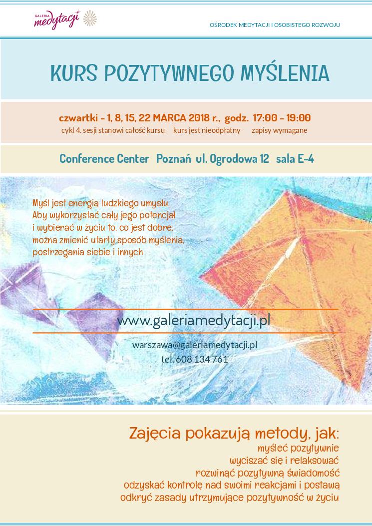 Kurs pozytywnego myślenia w Poznaniu @ Conference Centre sala E-4
