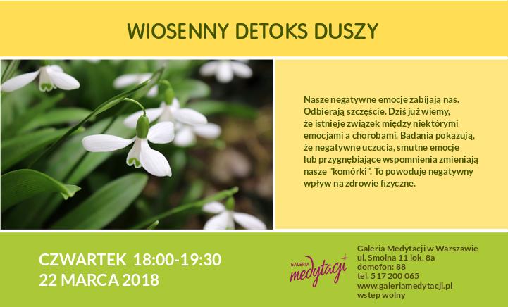 Wiosenny detoks duszy @ Galeria Medytacji w Warszawie