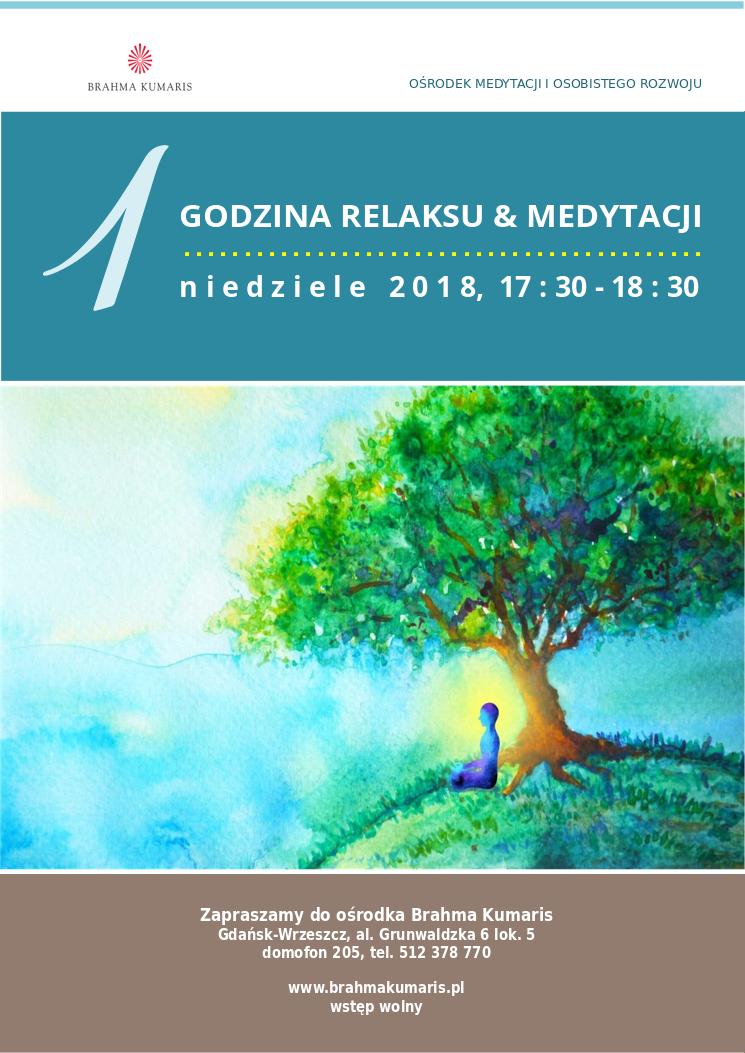 Jedna godzina relaksu i medytacji w Gdańsku @ Ośrodek Brahma Kumaris w Gdańsku