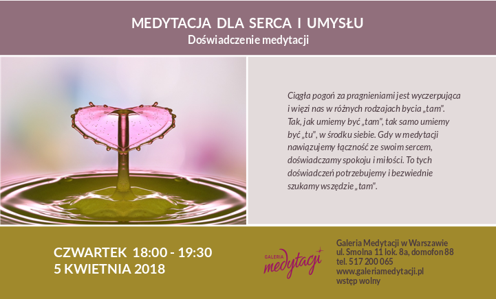 Medytacja dla serca i umysłu. Spotkanie w Warszawie @ Galeria Medytacji w Warszawie