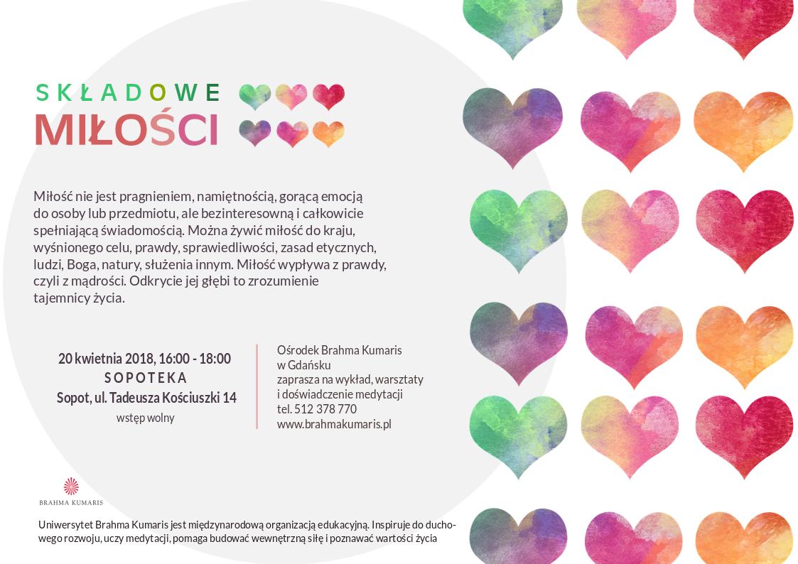 Składowe Miłości. Spotkanie w Sopocie @ Galeria multimedialna Sopoteka. II p.,  Sopot Centrum