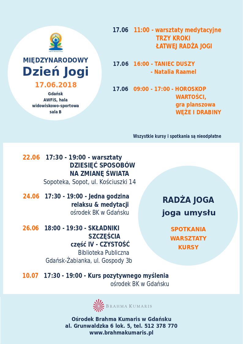Międzynarodowy Dzień Jogi w Gdańsku @ Hala widowiskowo-sportowa, sala B,  Akademii Wychowania Fizycznego i Sportu w Gdańsku