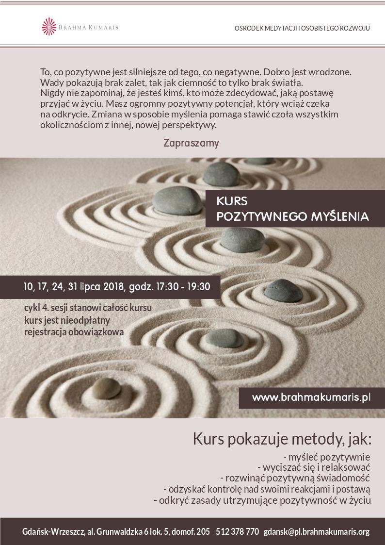 Kurs pozytywnego myślenia w Gdańsku @ Ośrodek Brahma Kumaris w Gdańsku