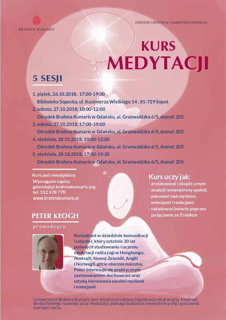 Kurs medytacji w Trójmieście. Sesja 3 @ Ośrodek Brahma Kumaris w Gdańsku