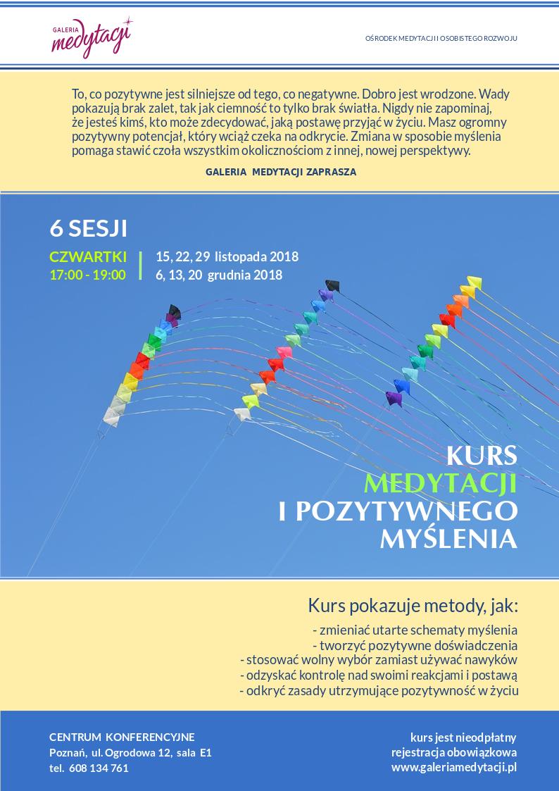 Kurs medytacji i pozytywnego myślenia w Poznaniu. 6 sesji @ Centrum Konferencyjne w Poznaniu, sala E 1