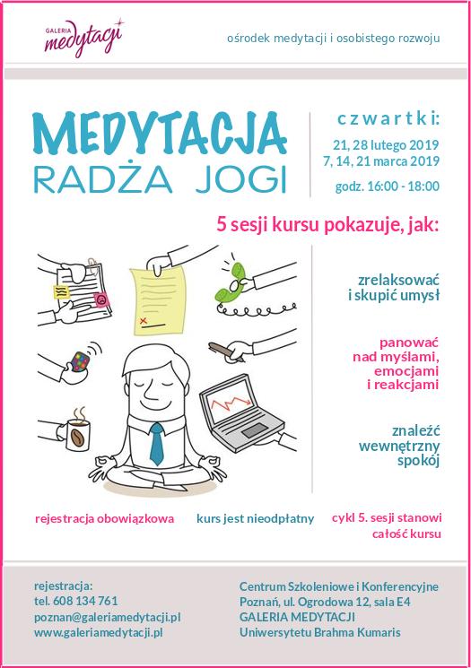 Kurs medytacji radża jogi w Poznaniu @ Centrum Konferencyjne w Poznaniu