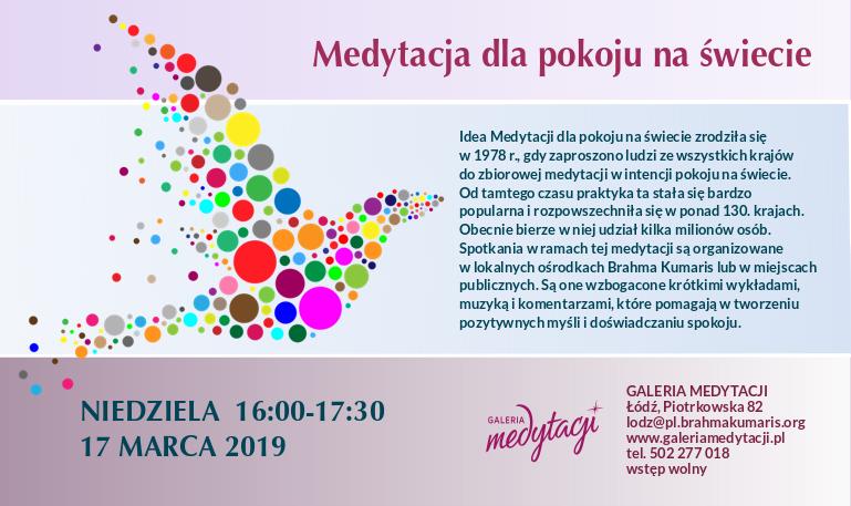 Medytacja dla pokoju na świecie w Łodzi @ Galeria Medytacji w Łódź