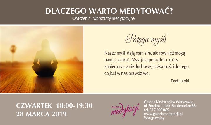 Dlaczego warto medytować. Ćwiczenia i warsztaty medytacyjne w Warszawie. Część 2 @ Galeria Medytacji w Warszawie