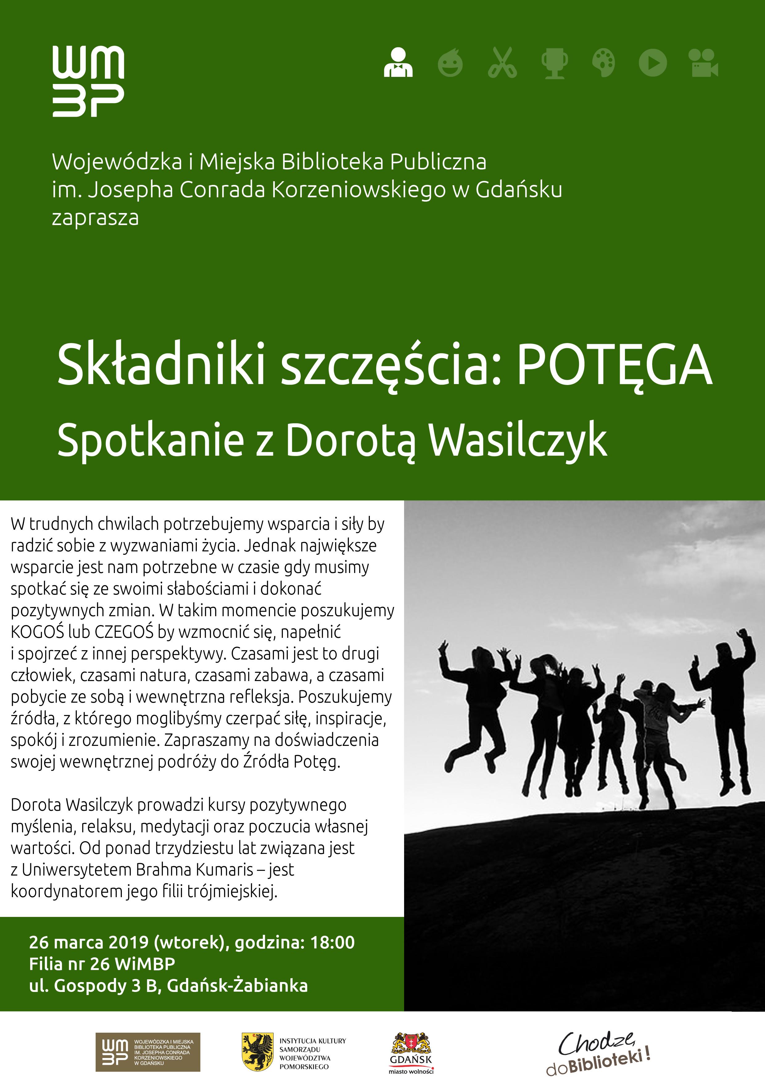 Składniki szczęścia: Potęga. Spotkanie w Gdańsku @ Wojewódzka i Miejska Biblioteka Publiczna nr 26 w Gdańsku