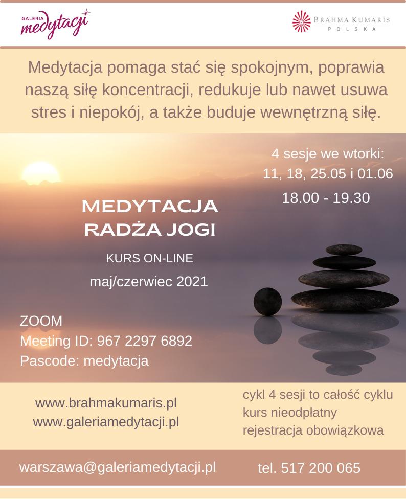 Kurs medytacji radża jogi @ wydarzenie online