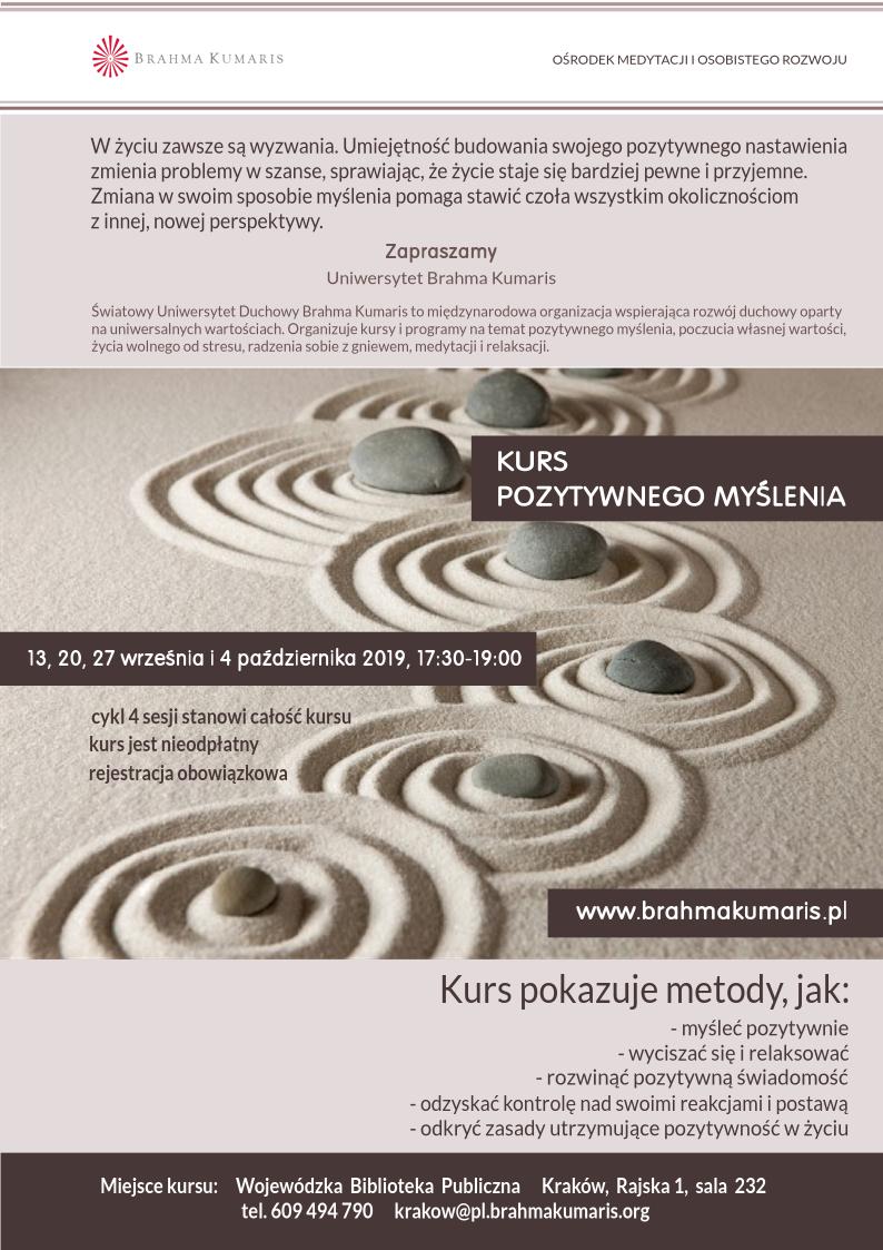 Kurs pozytywnego myślenia w Krakowie. Sesja 4 @ Wojewódzka Biblioteka Publiczna w Krakowie