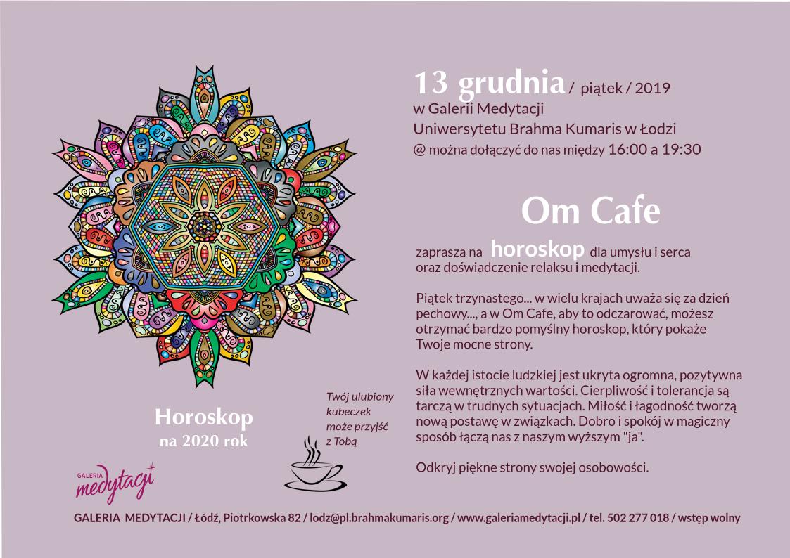 Horosko na 2020 r. w Om Cafe w Łodzi @ Galeria Medytacji w Łodzi