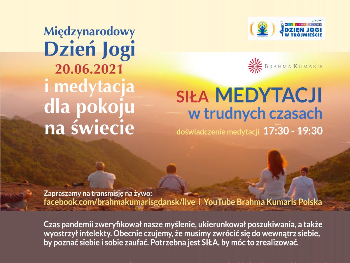 Siła medytacji w trudnych czasach. Spotkanie online w związku z Międzynarodowym Dniem Jogi oraz Medytacja dla pokoju na świecie @ wydarzenie online