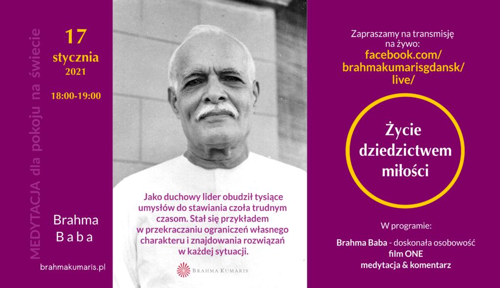 Życie dziedzictwem miłości. Spotkanie online w ramach comiesięcznej Medytacji dla pokoju na świecie @ Ośrodek Brahma Kumaris Gdańsk FB @brahmakumarisgdansk