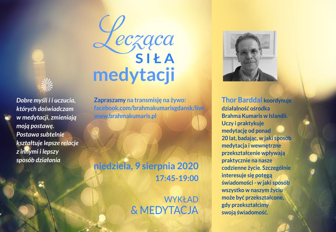 Lecząca siła medytacji – spotkanie online z Thorem Braddal z Islandii. FB brahmakumarisgdansk @ wydarzenie online