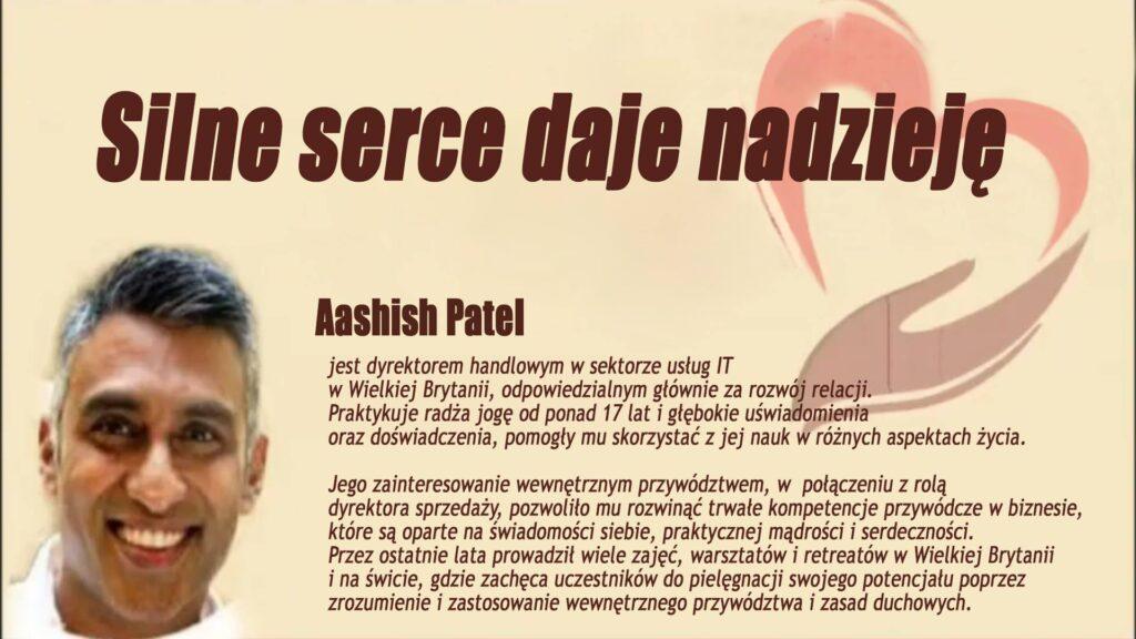 Silne serce daje nadzieję. Gościem programu online będzie Aashish Patel z Londynu @ https://www.facebook.com/brahmakumarisgdansk/