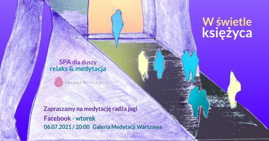 W świetle księżyca. Relaksacja w ramach cyklu SPA dla duszy. FB Galeria Medytacji w Warszawie @ wydarzenie online